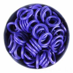 Purple rubber, 2.0x8.0 mm (12x8x2 mm) - 100 rings